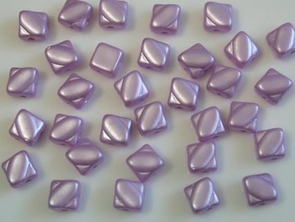 Margele sticla Cehia silky 6 mm, alabaster pastel lt. lila (10 buc)