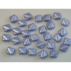 Margele sticla Cehia silky 6 mm, alabaster pastel lt. sapphire (10 buc)
