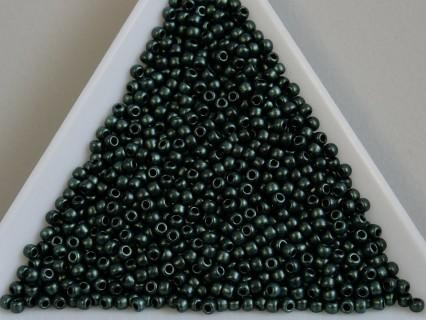 Toho R11-Y614, Hybrid metallic suede -Lt. green , 10g