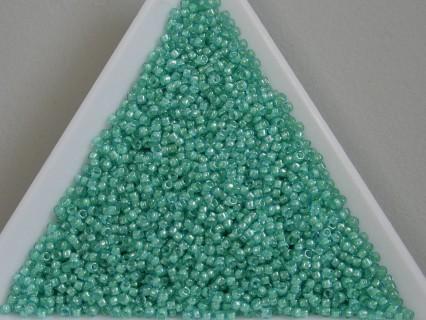 Toho R15-954, Inside-Color Aqua/Lt. Jonquil Lined, 5g