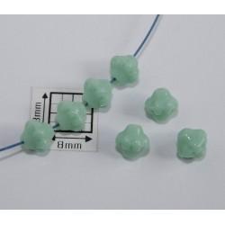 Bicon -margele sticla Cehia bicon 6 mm culoare green turquoise (20 buc)