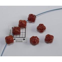 Bicon -margele sticla Cehia bicon 6 mm culoare terracotta (20 buc)