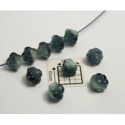 Bicon -margele sticla Cehia bicon 6 mm culoare mix maro/verde/albastru (20 buc)