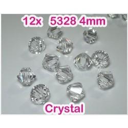 5328 4mm Crystal - Elemente Swarovski - margele Xilion (12-bucati)