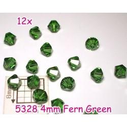 5328 4mm Fern Green - Elemente Swarovski - bicoane ( 12 bucati )
