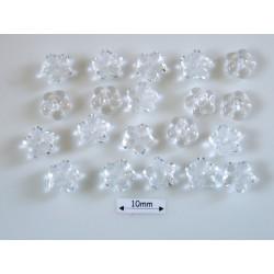 Margele sticla Cehia forma floare capat bila 7mm culoare crystal (20 buc) FL-20