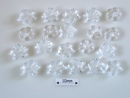 Margele sticla Cehia forma floare capat bila 7mm culoare crystal (20 buc)