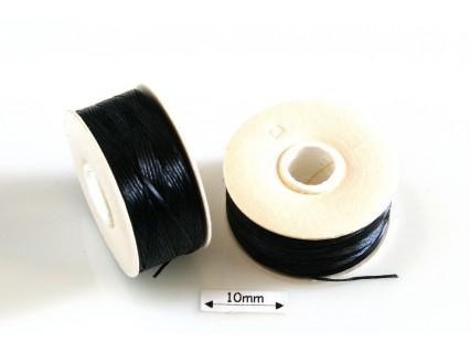 Nymo D black | negru, bobina 58.5m