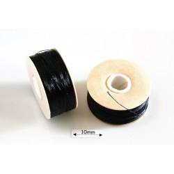 Nymo 00 black | negru, bobina 100m