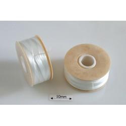 Nymo 00 white | alb, bobina 100m