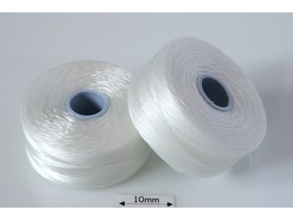 S-lon D white | alb, fir nylon monocord, bobina 71m