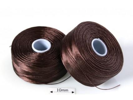 S-lon D brown | maro, fir nylon monocord, bobina 71m