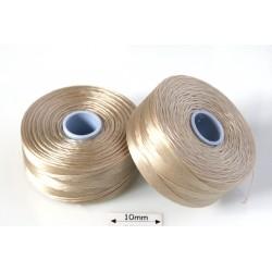 S-lon D beige | bej, fir nylon monocord, bobina 71m
