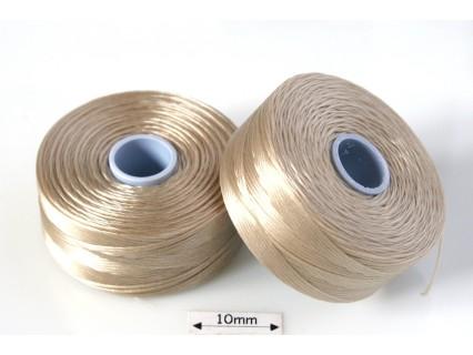 S-lon D beige | bej , fir nylon monocord, bobina 71m