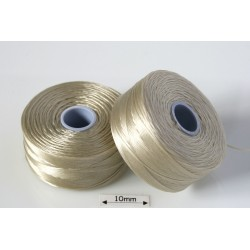 S-lon D dk cream | crem inchis, fir nylon monocord, bobina 71m