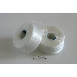 S-lon AA white | alb, fir nylon monocord, bobina 68m