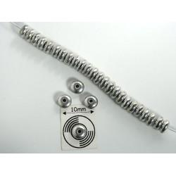 Margele sticla Cehia rondele 4 mm argintiu (20 buc)