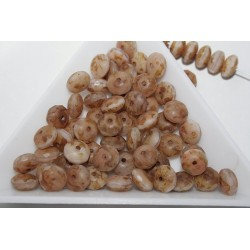 Margele sticla Cehia rondele fatetate 6x4 mm culoare mix maro (20 buc)