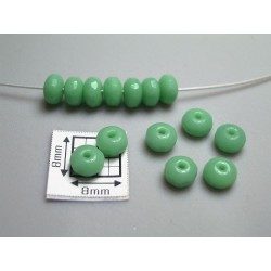 Margele sticla Cehia rondele fire polish 3x5 mm verde turcoaz (20 buc)