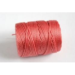 C-lon 0.9mm chinese coral - beading cord Tex 400 (bobina aprox. 35m)