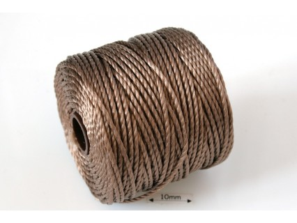S-Lon Tex400 Chocolate, 0.9mm, bobina cca 35yd/32m