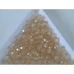 FP 4 - margele sticla Cehia firepolish 4 mm crystal champagne luster (50 buc) CE-04-388