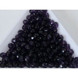 FP 4 - margele sticla Cehia firepolish 4 mm tanzanite (50 buc) CE-04-389