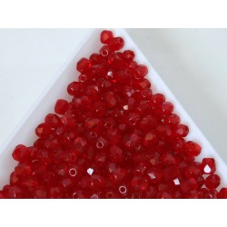 FP04-391 margele sticla Cehia firepolish 4 mm, siam ruby (50 buc)