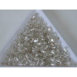 FP 4 - margele sticla Cehia firepolish 4 mm crystal silver lined (50 buc) CE-04-394