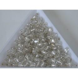 FP 4 - margele sticla Cehia firepolish 4 mm crystal silver lined (50 buc) CE-04-394