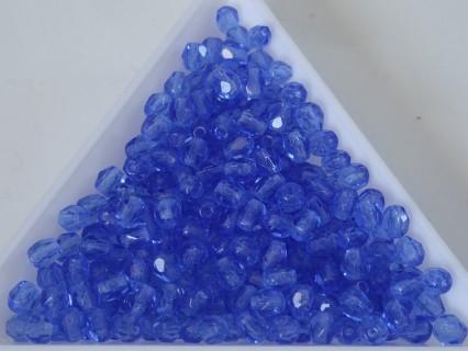FP 4 - margele sticla Cehia firepolish 4 mm sapphire (50 buc) CE-04-396