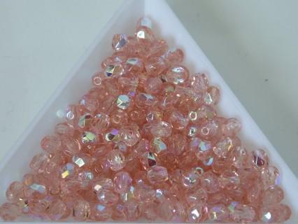 FP 4 - margele sticla Cehia firepolish 4 mm rosaline AB (50 buc) CE-04-397