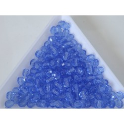 FP 4 - margele sticla Cehia firepolish 4 mm Blue Transparent (50 buc) CE-04-408