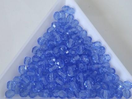 FP 4 - margele sticla Cehia firepolish 4 mm Blue Transparent (50 buc) CE-04-408