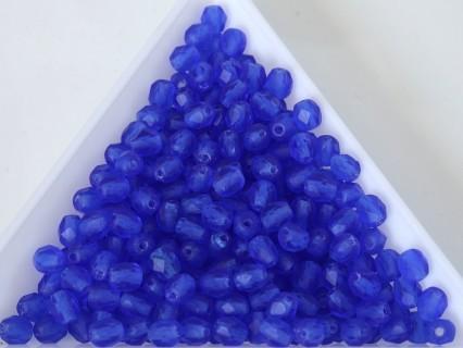 FP 4 - margele sticla Cehia firepolish 4 mm Blue Transparent matt (50 buc) CE-04-409