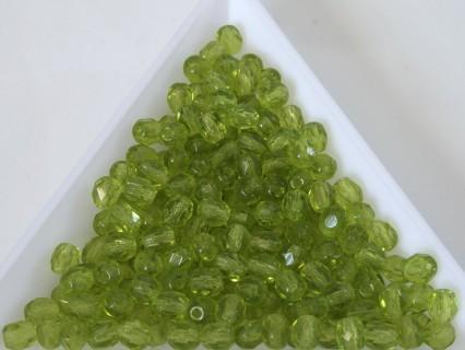 FP 4 - margele sticla Cehia firepolish 4 mm olivine (50 buc) CE-04-412