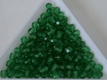 FP 4 - margele sticla Cehia firepolish 4 mm teal green (50 buc) CE-04-416