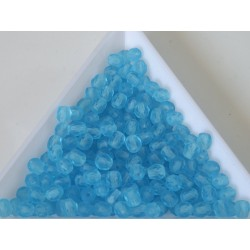 FP 4 - margele sticla Cehia firepolish 4 mm Aqua Matte (50 buc) CE-04-417