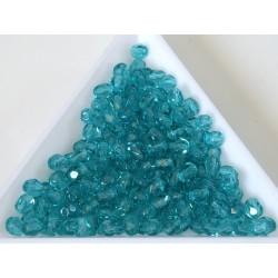 FP04-420 margele sticla Cehia firepolish 4 mm, blue zircon (50 buc)