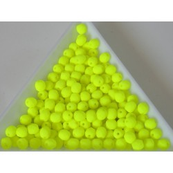 FP 4 - margele sticla Cehia firepolish 4 mm Neon yellow (50 buc) CE-04-429