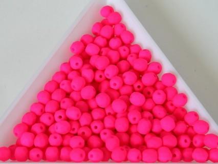 FP 4 - margele sticla Cehia firepolish 4 mm Neon pink (50 buc) CE-04-431