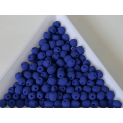 FP 4 - margele sticla Cehia firepolish 4 mm Neon dark blue (50 buc) CE-04-433