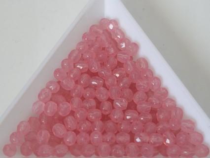 FP 4 - margele sticla Cehia firepolish 4 mm Pink Alabaster (50 buc) CE-04-436