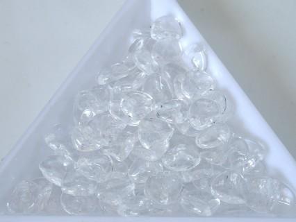 Margele Cehia - rose petals 8x7 mm culoare crystal (20 buc)