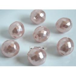 FP 12 - margele sticla Cehia firepolish 12 mm cream pearl coated 1 buc