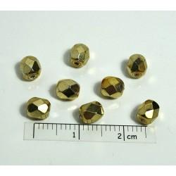 FP05-04 margele sticla Cehia firepolish 5 mm, culoarea auriu (10 buc)