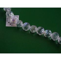 Margele sticla Cehia forma boboc de trandafir cca 7 mm culoare cristal AB (10 buc) .FL-24.
