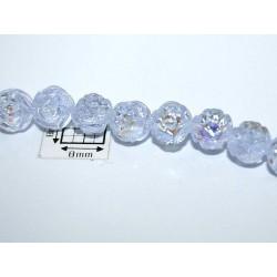 Margele sticla Cehia forma boboc de trandafir cca 7 mm culoare alexandrit AB (10 buc).FL-30.