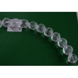 Margele sticla Cehia forma boboc de trandafir cca 7 mm culoare cristal clar (10 buc).FL-41.