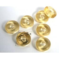 Inel sticla presata Cehia 11 x 4.50 mm culoare lt. topaz (4 buc). INE-03